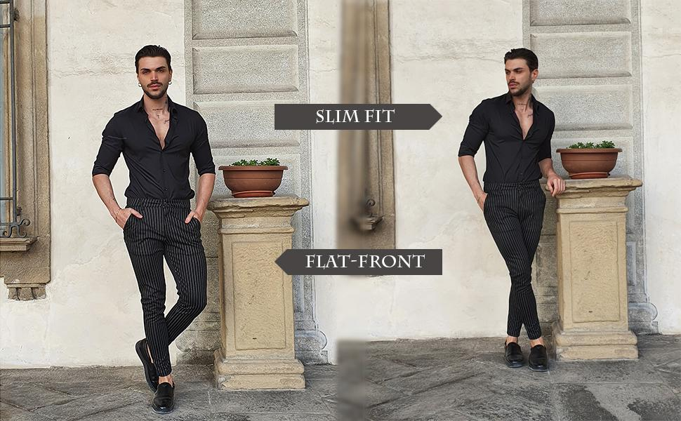 Mens Fashion Chinos Slim Fit