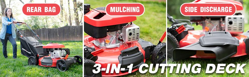 3 in 1 mower gas lawn