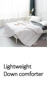 lightweight down blanket