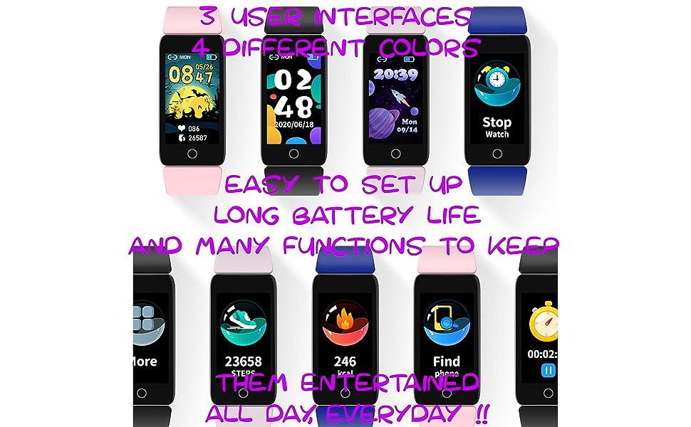 kids smart watch activity tracker steps pedometer smart watches boys fitness childs girls Fit Bit