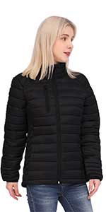 women down jacket winter warm puffer coat lightweight quilted jacket with hoodie