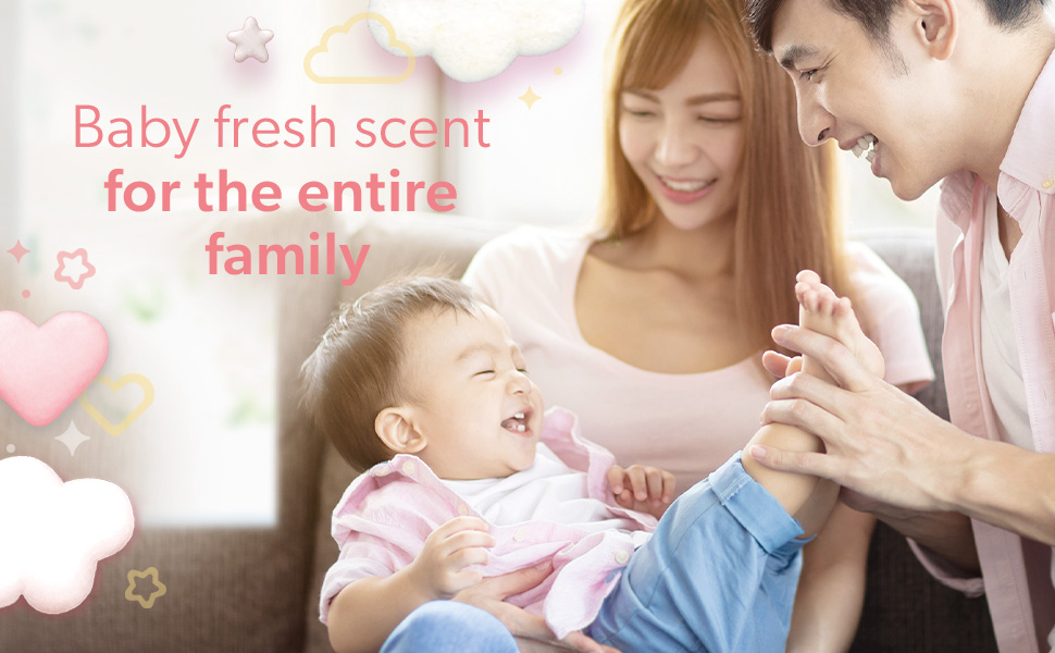 Baby fresh scent for the entire family