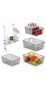 Wire Baskets amp; Hook Shelf Organizer