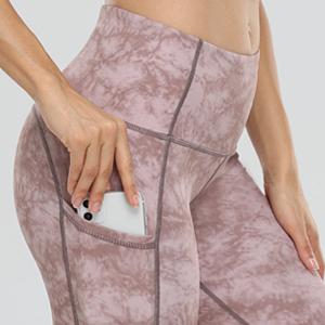 Oalka Women's Short Yoga Side Pockets High Waist Workout Running Shorts Khaki Black