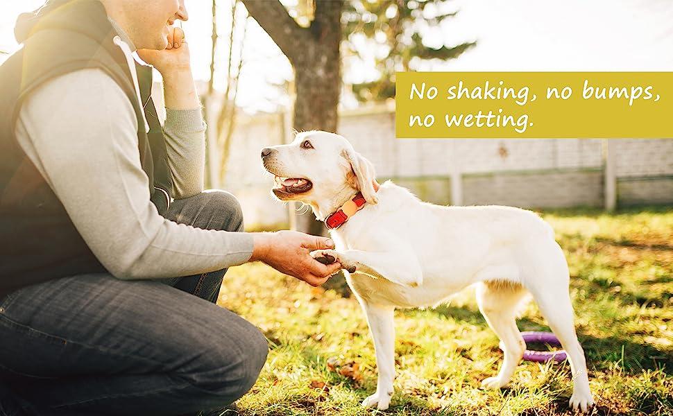 No shaking, no bumps, no wetting