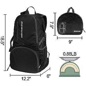 Daypack Dimension