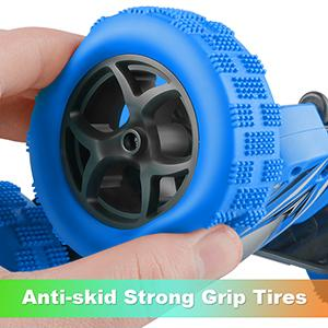 The Remote Control Truck has Durable Anti-skid Tires