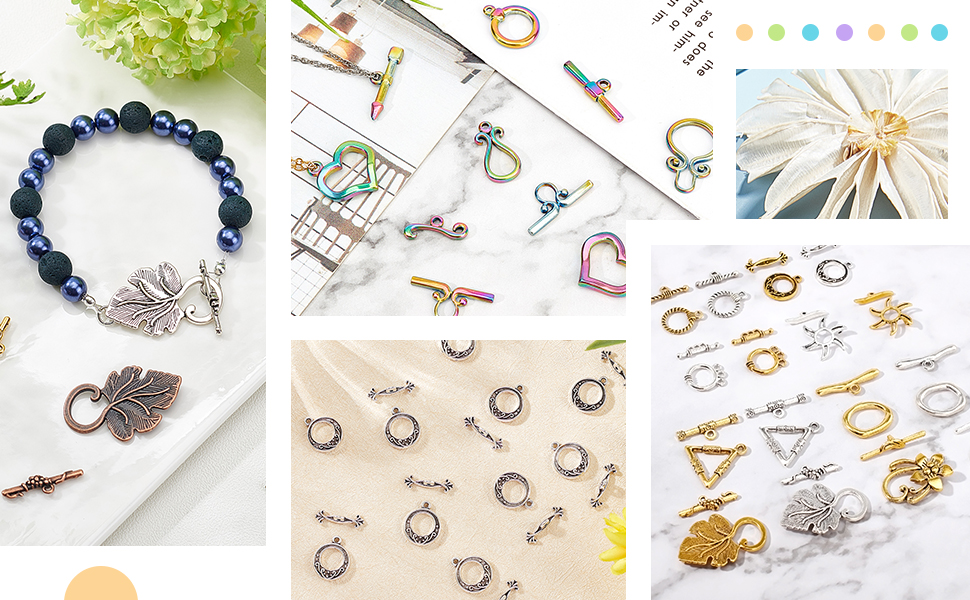 Jewelry Toggle Clasps Alloy Big Clasp oggle Findings for Necklace Bracelet Jewelry Making DIY Craft