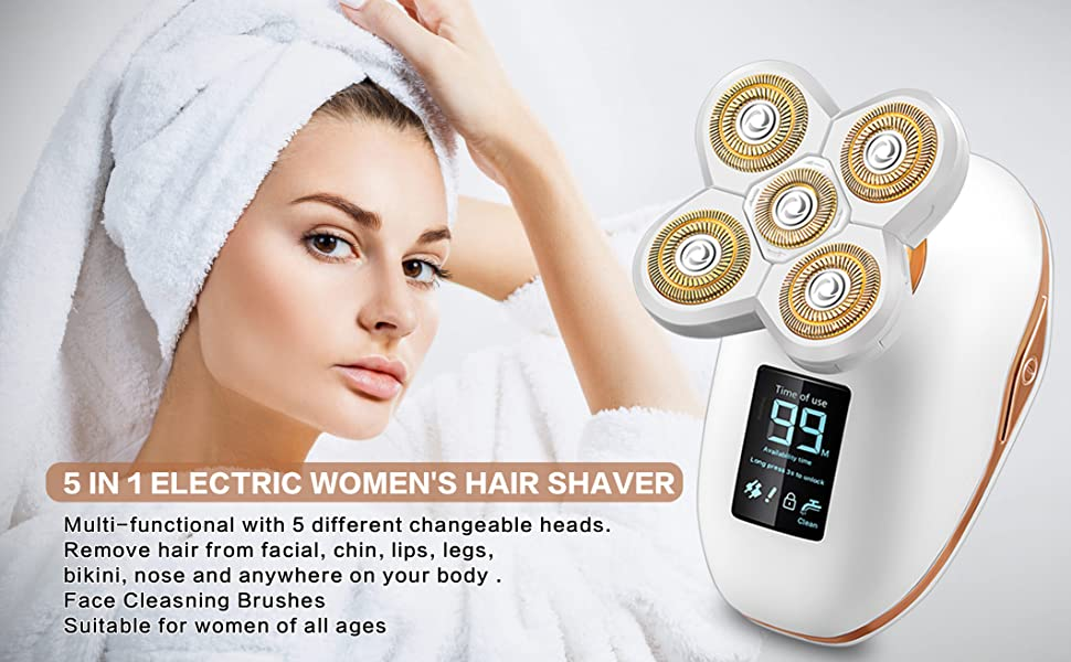 5 IN 1 ELECTRIC WOMEN'S HAIR SHAVER