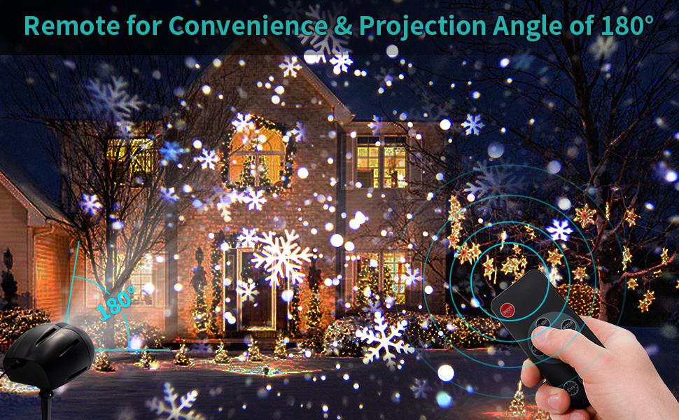 snowflake lights projector