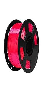 silk red 1.75mm pla filament