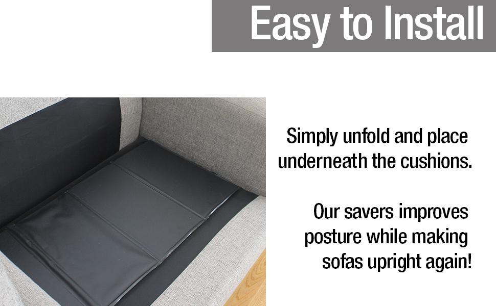 Easy to install sofa saver