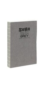 soho urban artist open bound grey sketch book
