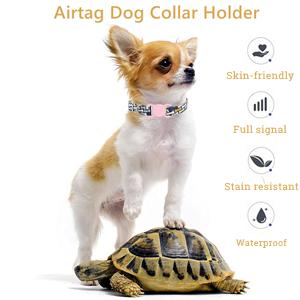 apple tag dog collar