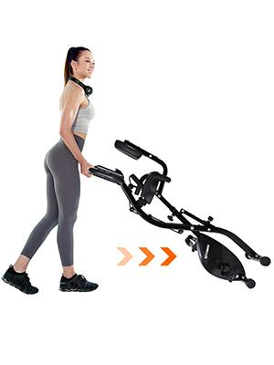 HOMEFITER portable exercise bike home bike exercise folding exercise bike