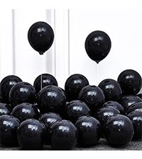 5 Inch Black Balloons