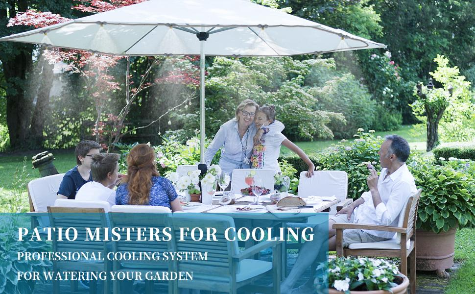 patio misters cooling system