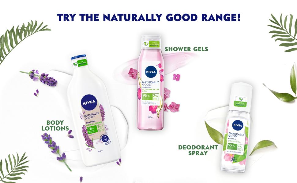 NIVEA, Women, Body Lotion,Natural Ingredients, Body Wash,Nourishment,Moisturization