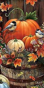 diamond painting Halloween Pumpkin Bird