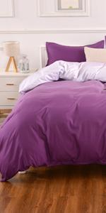 Purple Bedding Duvet Cover Set