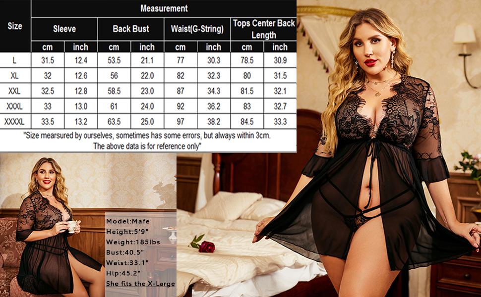 women plus size night robe