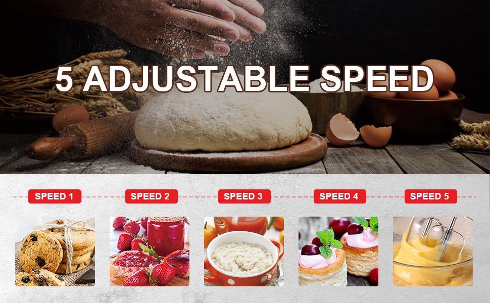 5 Adjustable Speen Hand Mixer