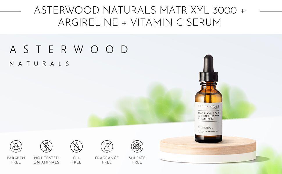 Asterwood Naturals Matrixyl 3000 argireline és c -vitamin szérum