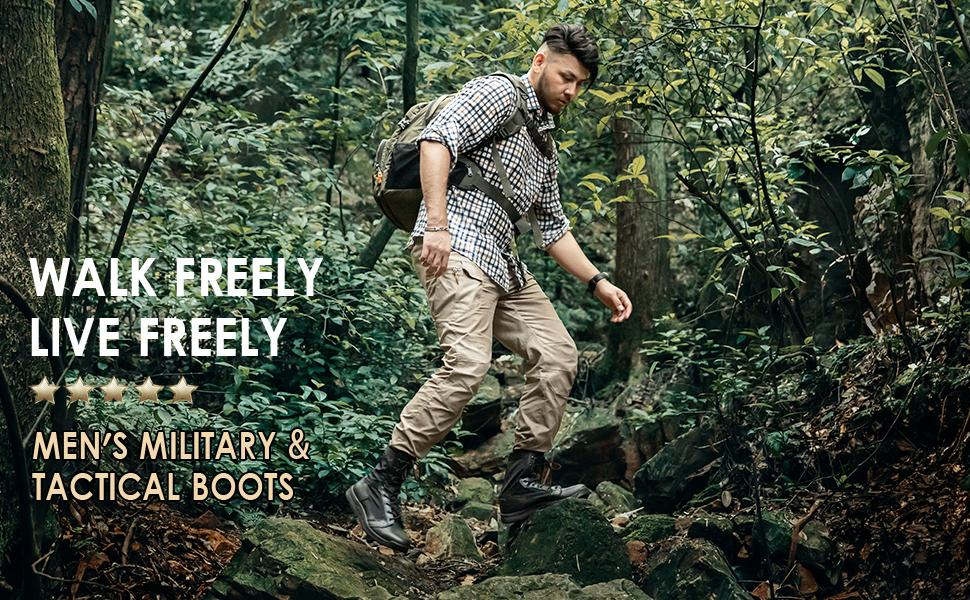 Men's Military Tactical Boots Lightweight Jungle Boots