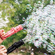 Bubble Leaf Blower Huge Amount Bubble Maker Machine Cool Outdoor Toys Gift for Boys Girls