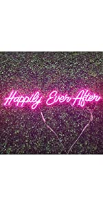 Happily Ever After Neon Sign Light for Wedding Decor