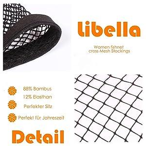 Libella Damen halterlose Str/ümpfe Mikrofaser 40D schwarz//beige 25204