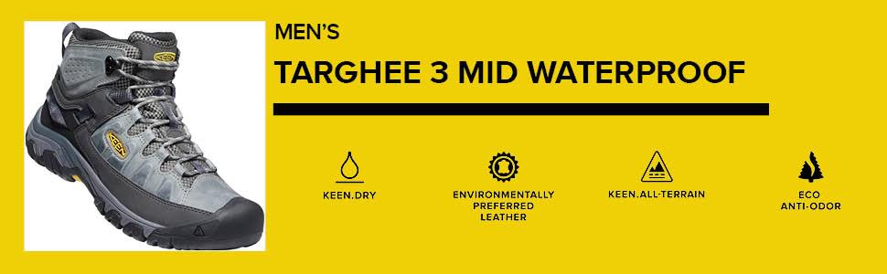 Men's Targhee 3 Mid Height waterproof hiking boot outdoor