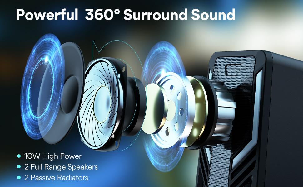 Powerful 360 Surround Sound