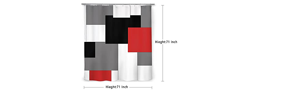 71 x 71 inches and includes a reinforced top with 12 rust-proof metal grommets