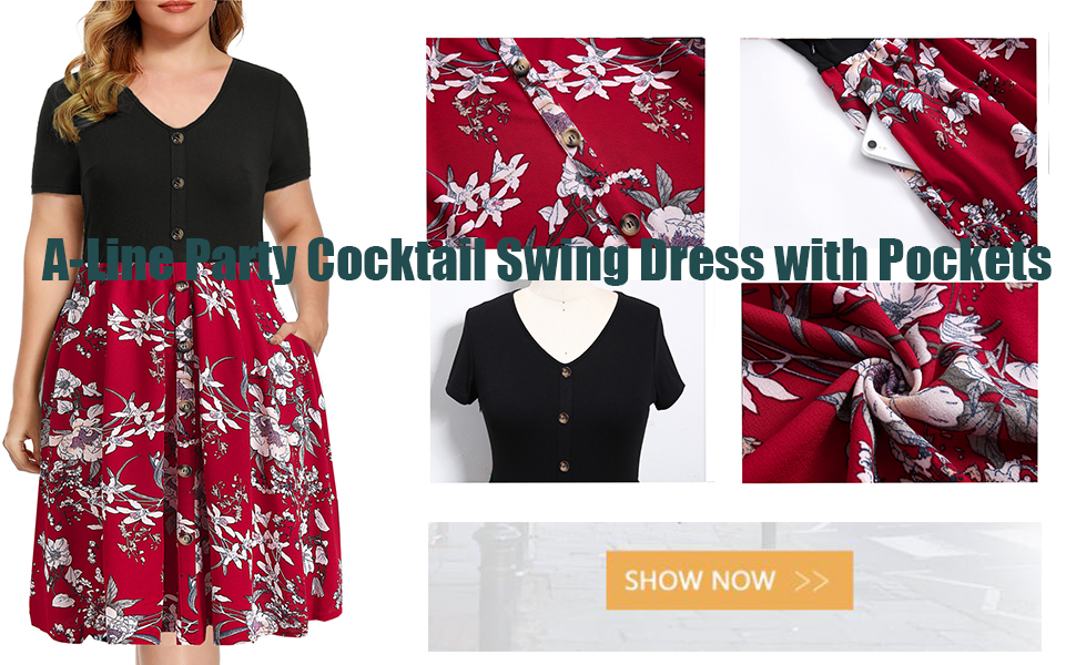 A-line swing dress with pockets