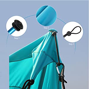 beach tent  portable  compact sun shelter costway easy folding hanging