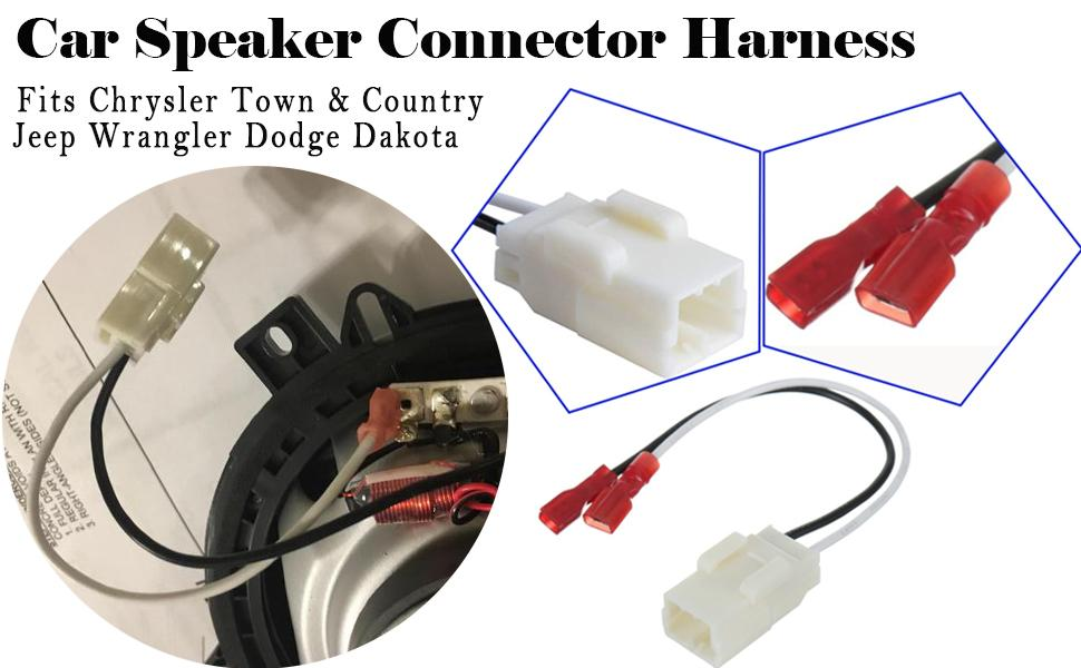 72-6514 Speaker Harness Adapter Compatible Jeep with Ch ...