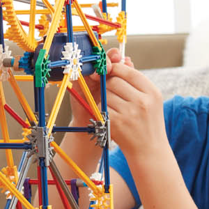 image of kid snapping ferris wheel together