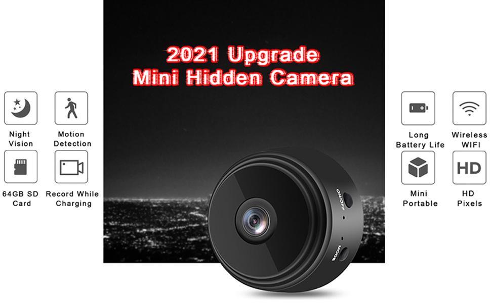 Flashandfocus.com 66376f0a-17f4-4049-ba92-121fc965f191.__CR0,0,970,600_PT0_SX970_V1___ Mini Spy Hidden Camera (2021 New Version), with Audio and Video Live Feed WiFi Wireless Cameras, 1080P HD Nanny Cam with…