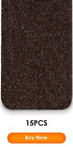 15 PCS brown stair treads