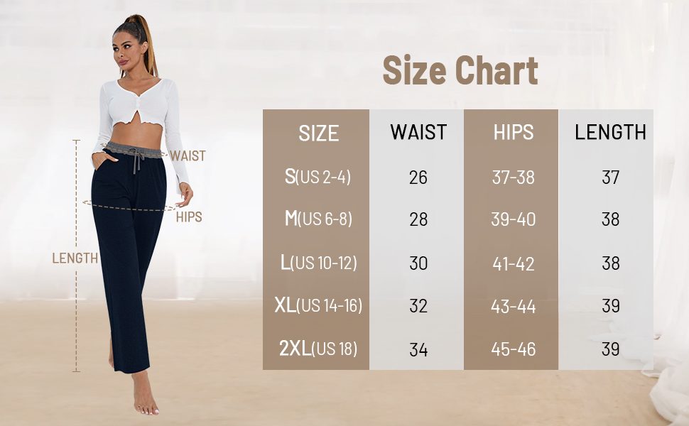 size for yoga pants