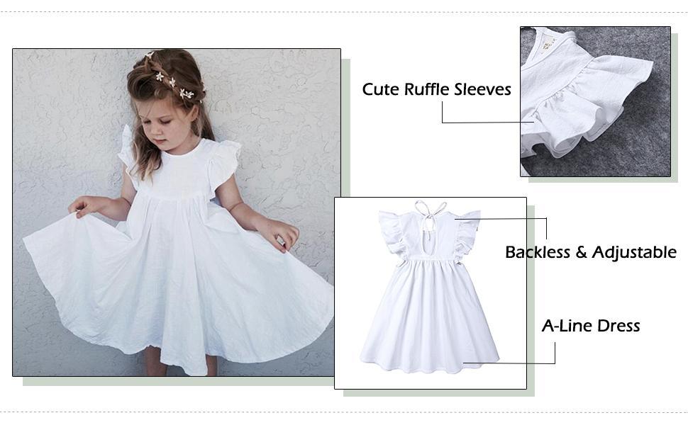 white sundress for little girl