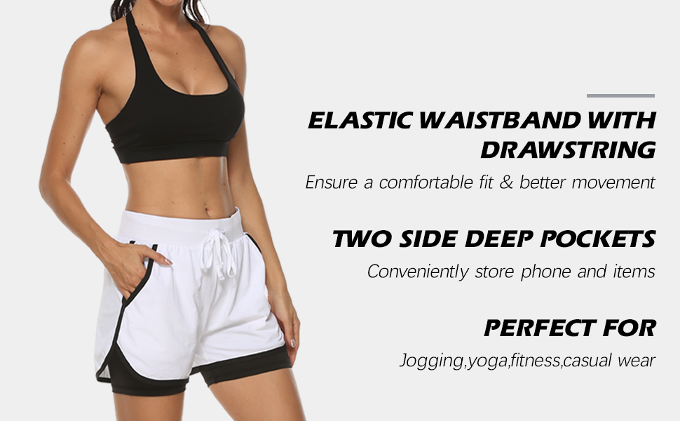 Athletic shorts feature