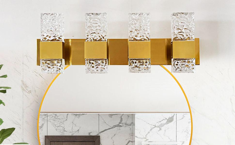 gold vanity light