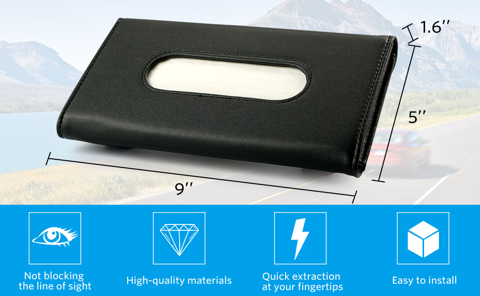 visor tissue holder car