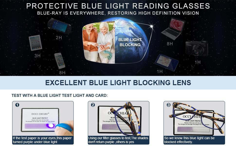 OCCI CHIARI Reading Glasses For Women Oversized Reader 1.0 1.5 2.0 2.5 3.0 3.5