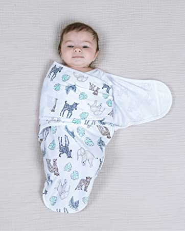 baby in easy swaddle wrap