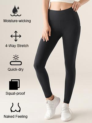 Moisture-wicking;4-Way Stretch;Quick-dry;Squat-proof;Naked Feeling