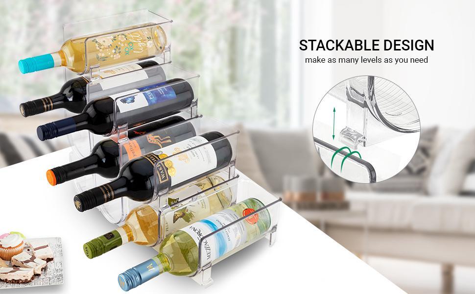 Stackable wine holders