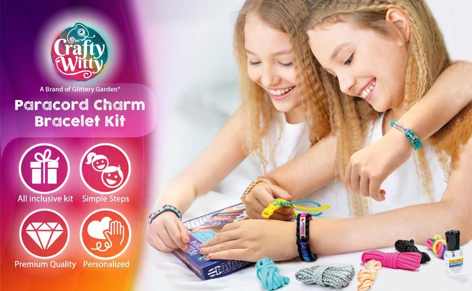 Paracord Charm Bracelet Kit - All inclusive kit, Simple steps to make, Premium Quality